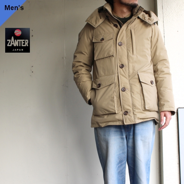 【予約販売】ZANTER JAPAN DOWN PARKA WP-H (ベージュ)