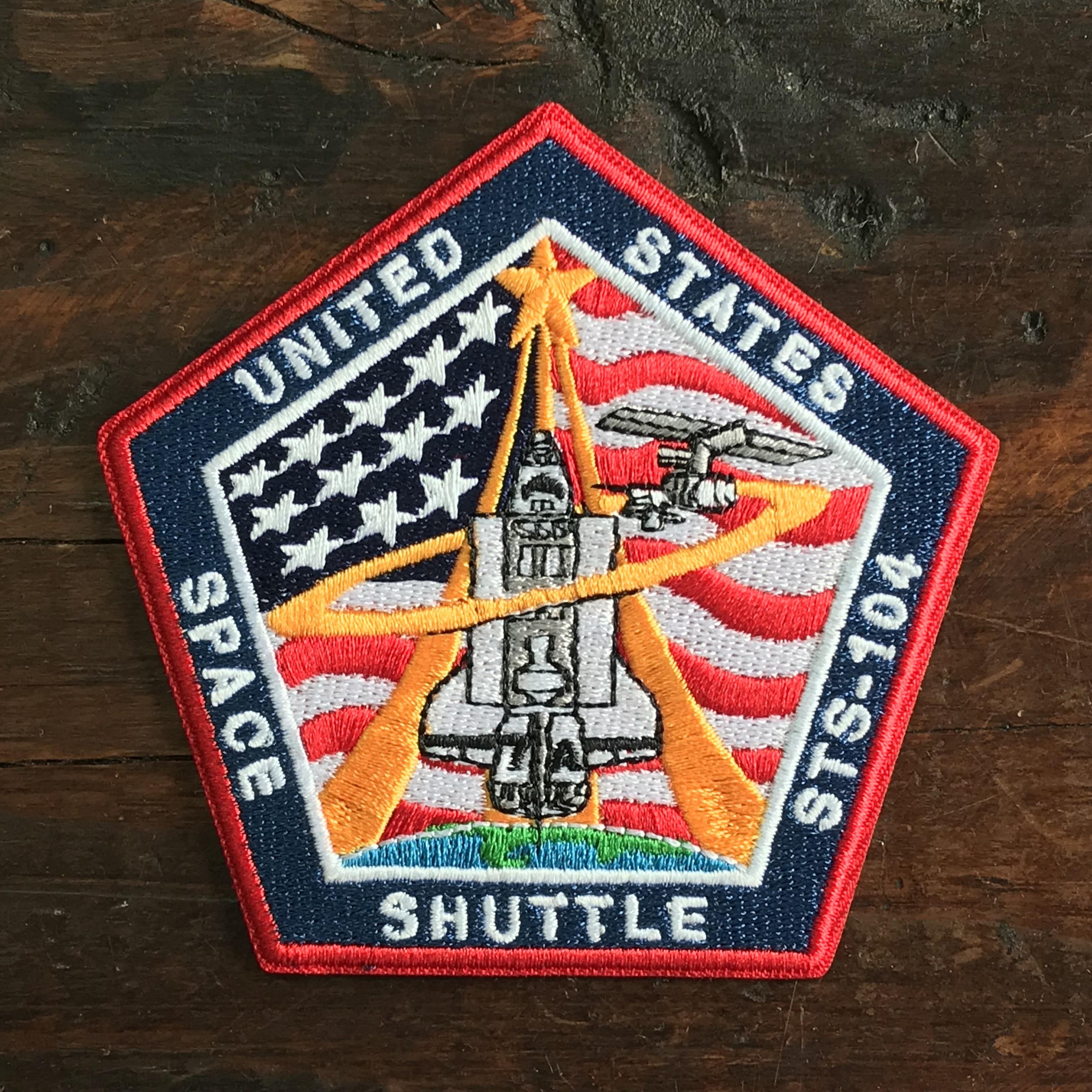 NASA公認(アメリカ航空宇宙局)ワッペン・アップリケ・スペースシャトルミッション・STS-104