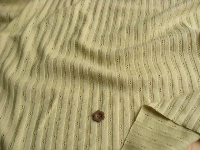 綿針抜きストライプニット うぐいす色 NTM-2367