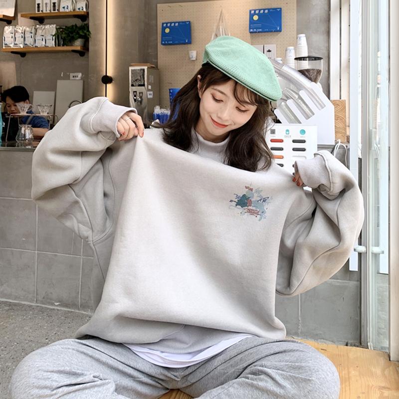 【tops】ハイネックプリントファッション人気パーカー25098881