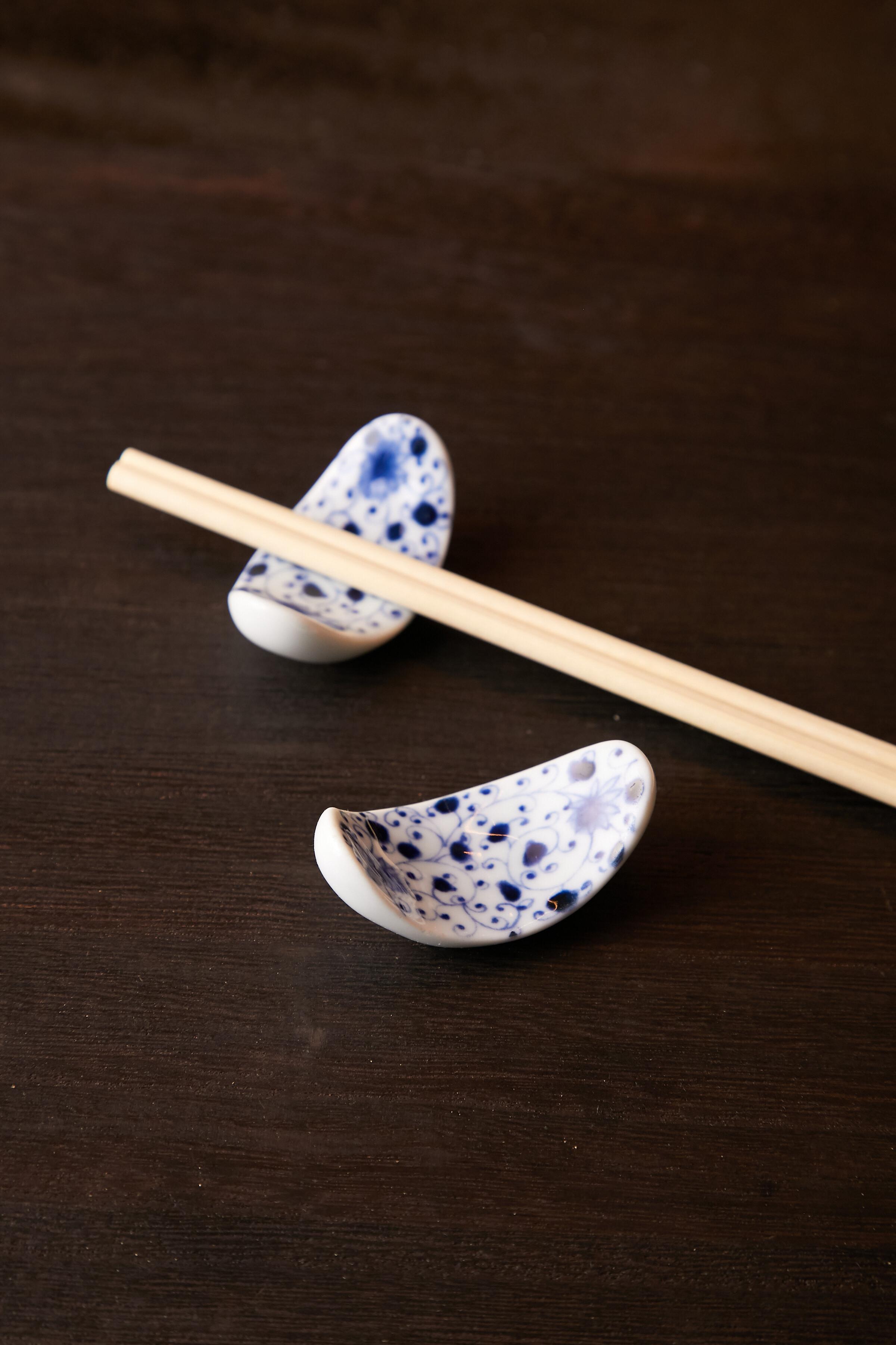 唐草伊万里 ひさご 箸置き 日本製 美濃焼【送料無料】
