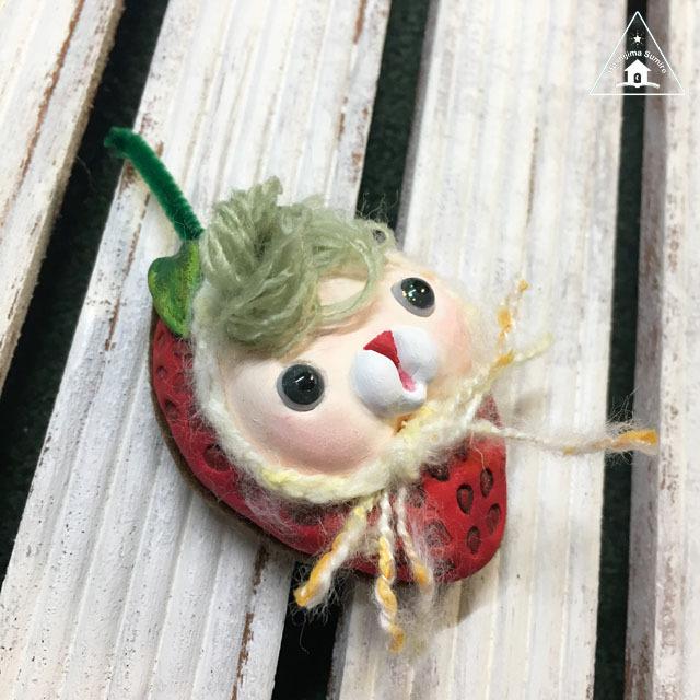 お野菜ちゃんブローチ(いちごちゃん3)