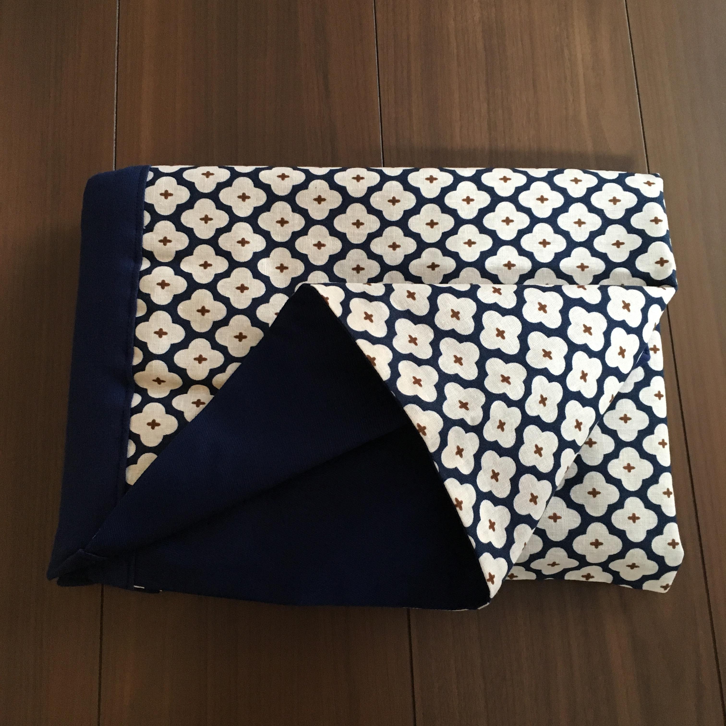 WA wrap /  ネイビー小花