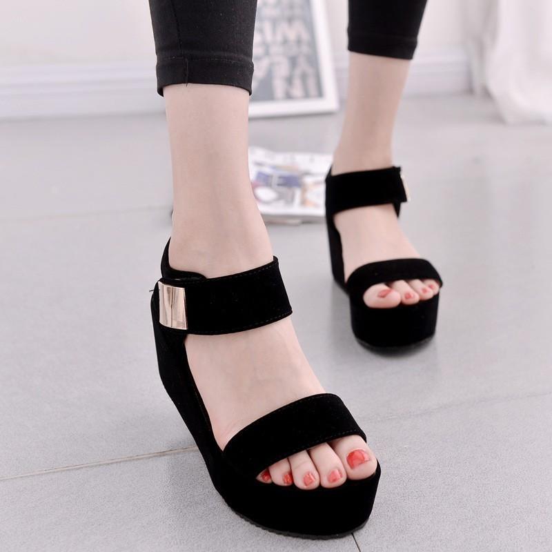 【shoes】ファッション無地丸トゥサンダル21008750