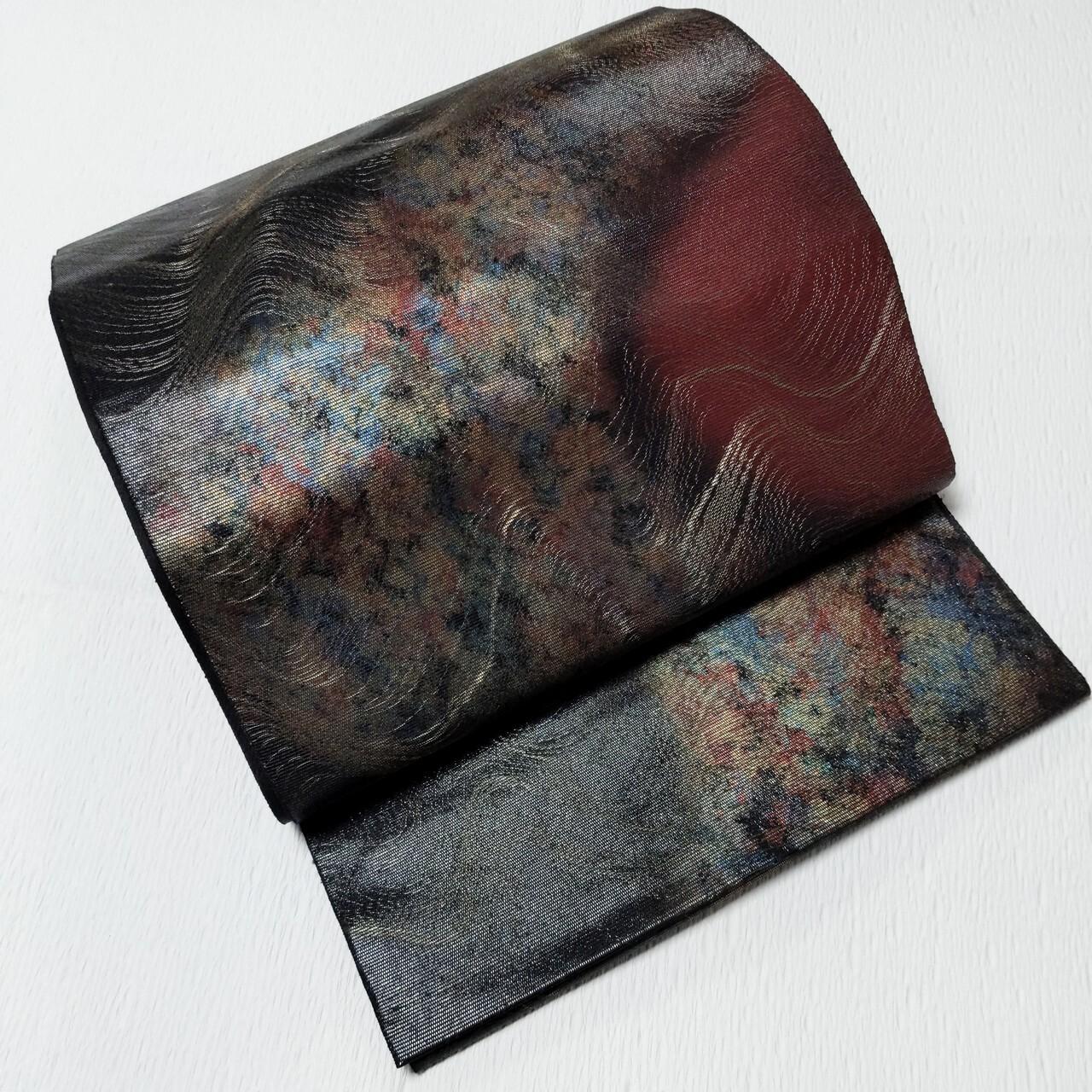 【迫力!】美品使用感少!  袋帯 六通 金銀箔 銀河の中の燃える火星