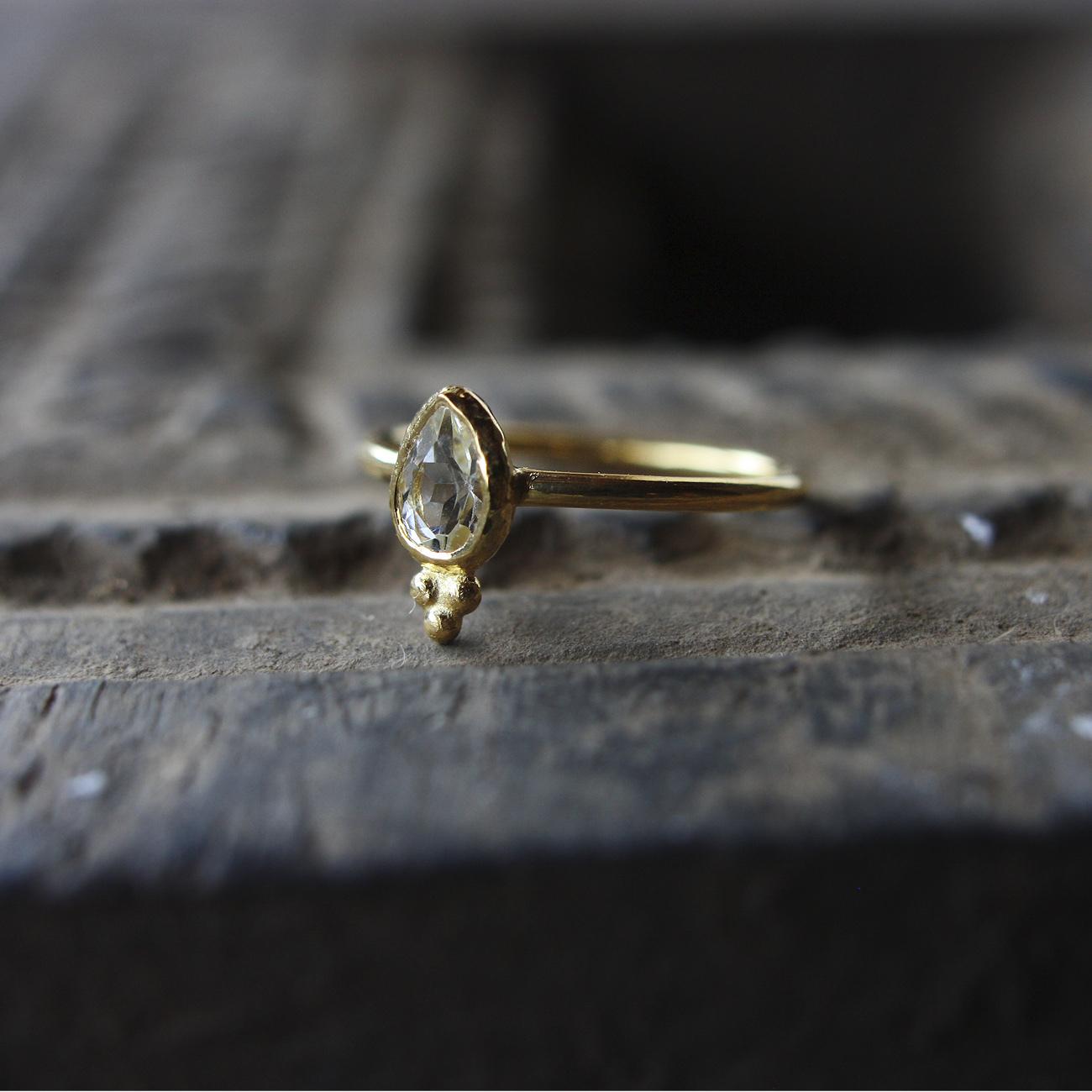 Jaipur gem リング -crystal- #13