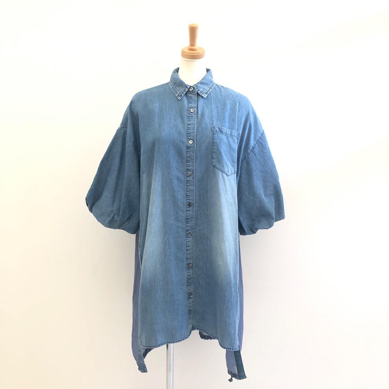 【 CYNICAL 】- 012-95014 - テンセルデニムシアーシャツ