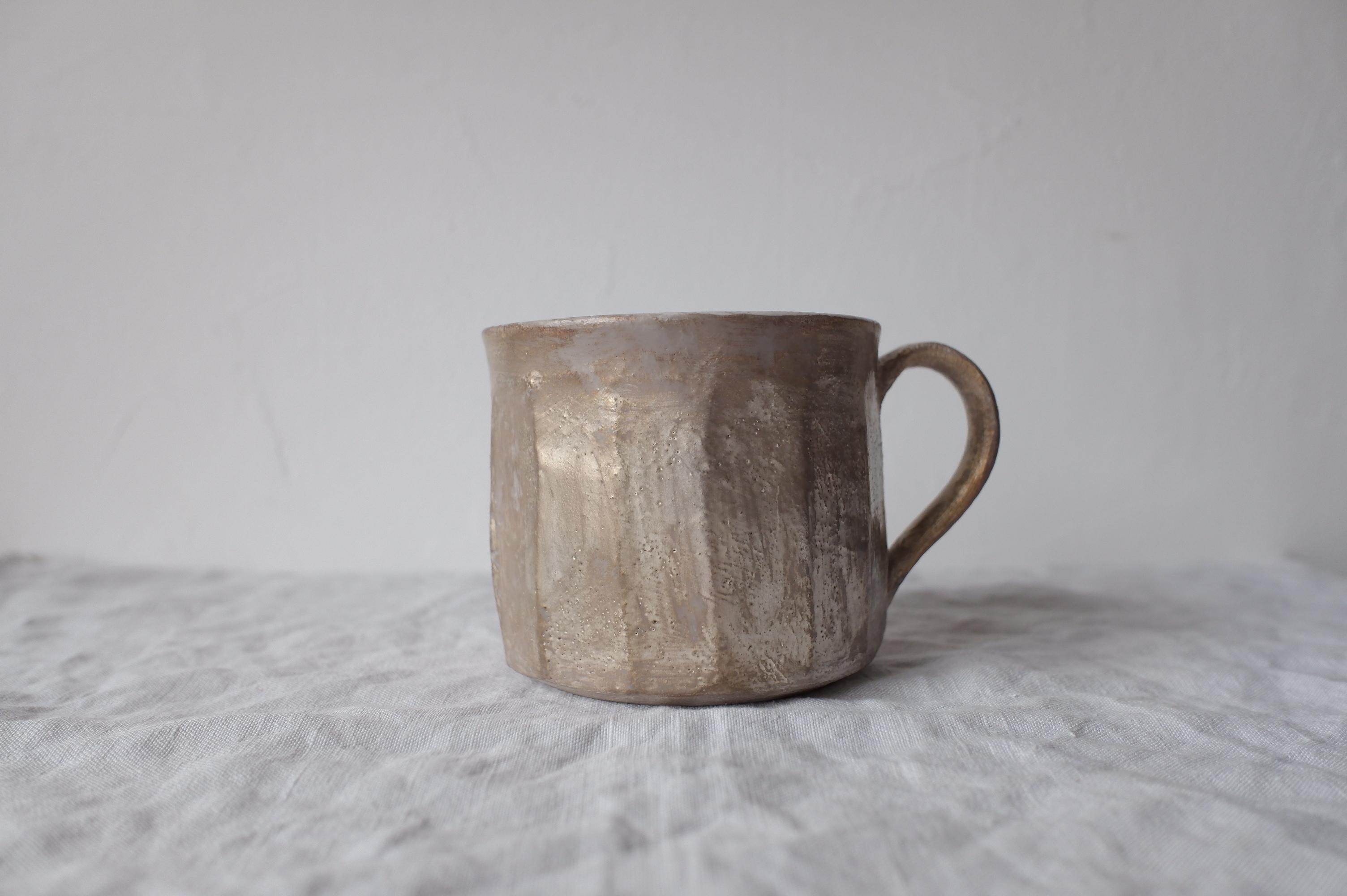 加藤直樹 コーヒーカップ M 銀彩 【 kn_0055 】
