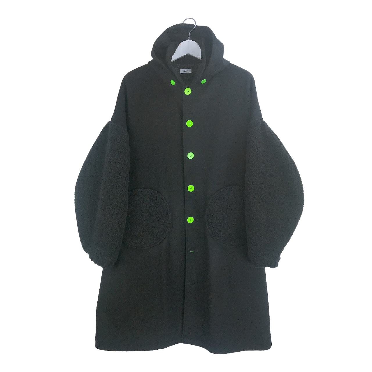 REMOVABLE FOODED MIX MELTON COAT / LL