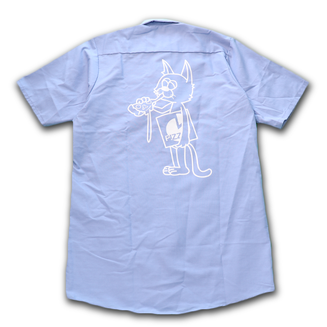 PIZZA CAT Short sleeve Work shirt