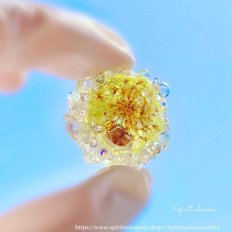 『風に乗せるこころ』/浄化の泡 オルゴナイト