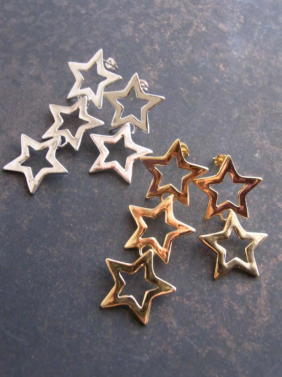 Silver Star/アシンメトリーピアス(3x2)
