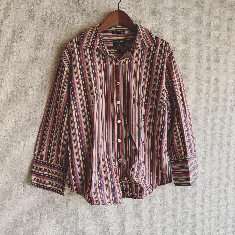 【SALE】vintage stripe cotton shirts