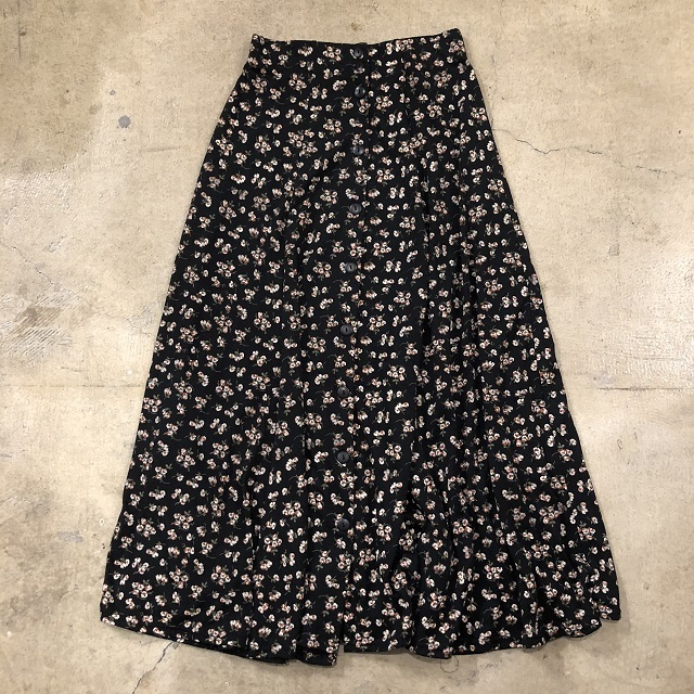 Front Button Floral Skirt #BT-207
