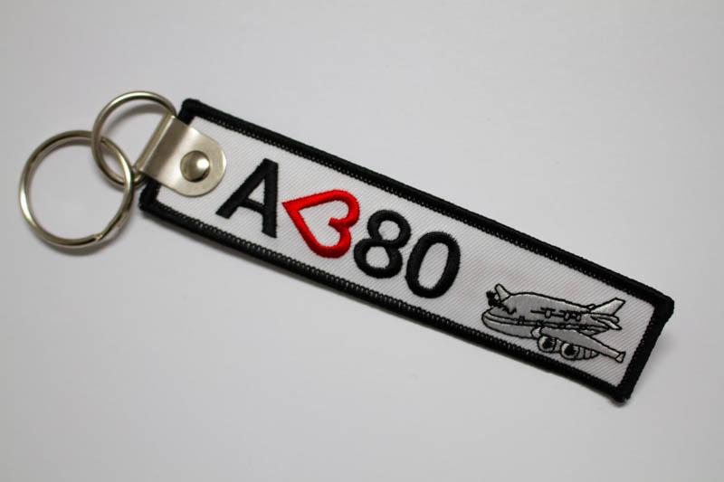 RemoveBeforeFlightキーホルダー I Love A380 - エアバス