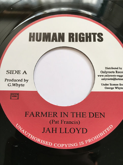 Jah Lloyd(ジャーロイド) - Farmer In The Den【7'】