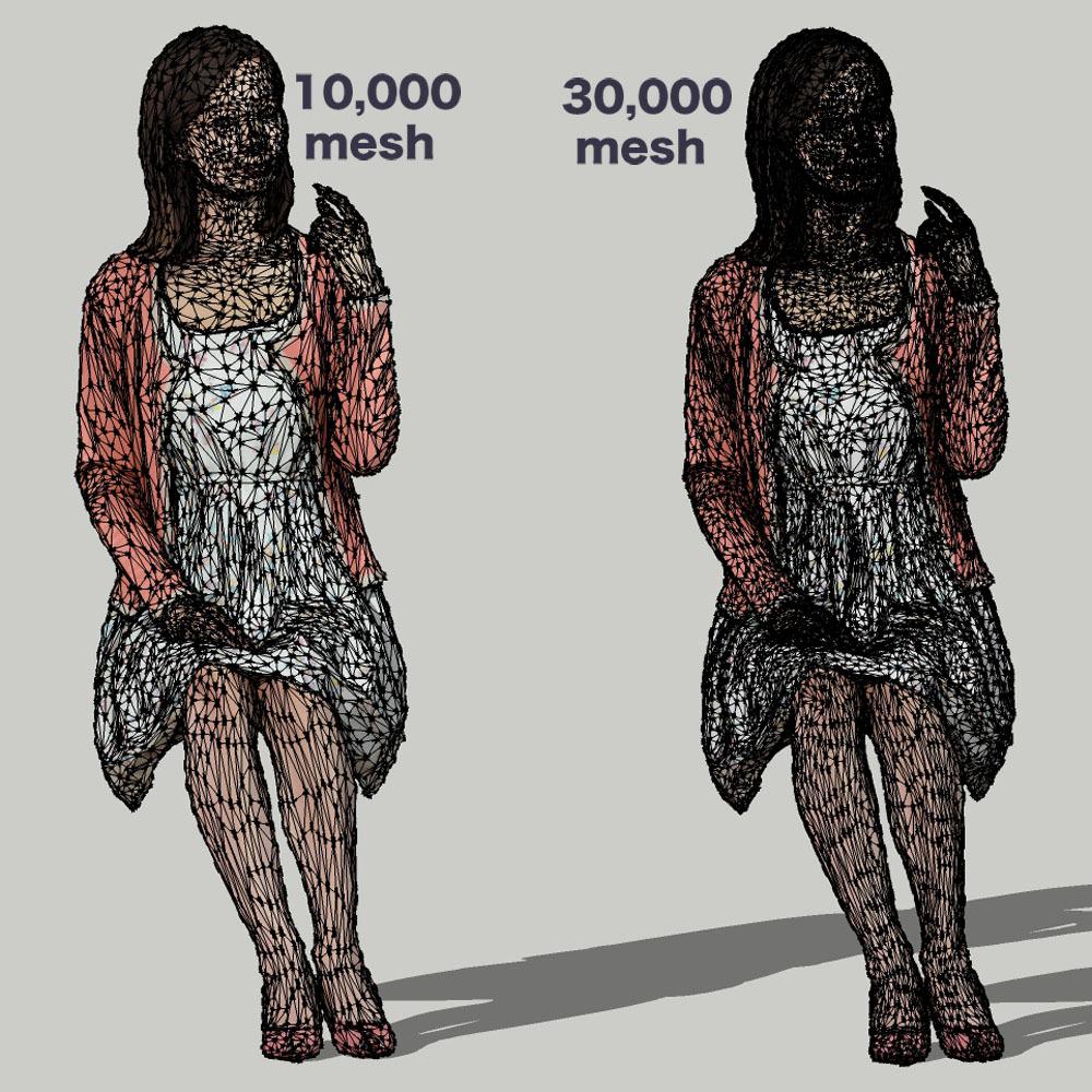 SketchUp素材 3D人物モデル ( Posed ) 091_Aya - 画像3