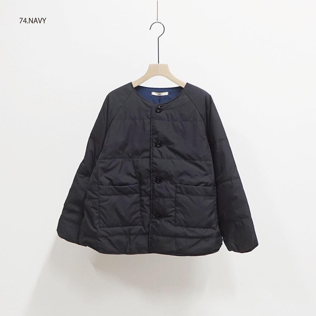 NARU ナル ノーカラーダウンジャケット 【返品交換不可】 (品番634111)