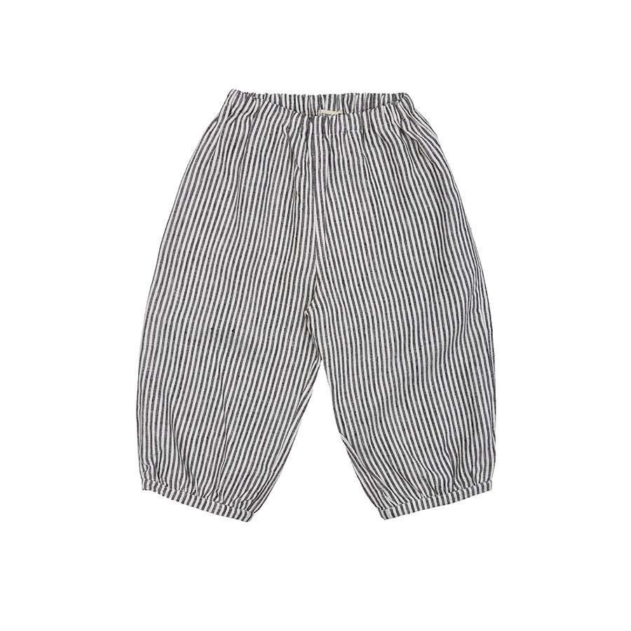 《AS WE GROW 2020SS》Bubble Pants /  grey stripe