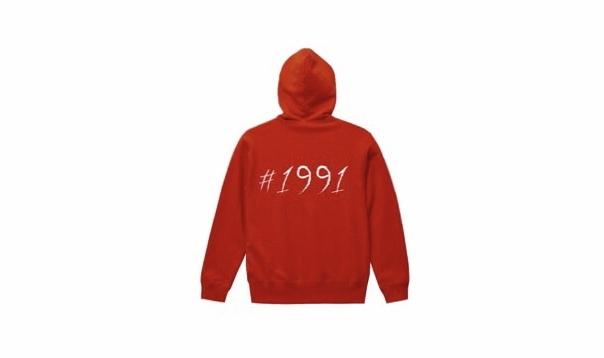 1991 big logo hoodie (rd/wh)
