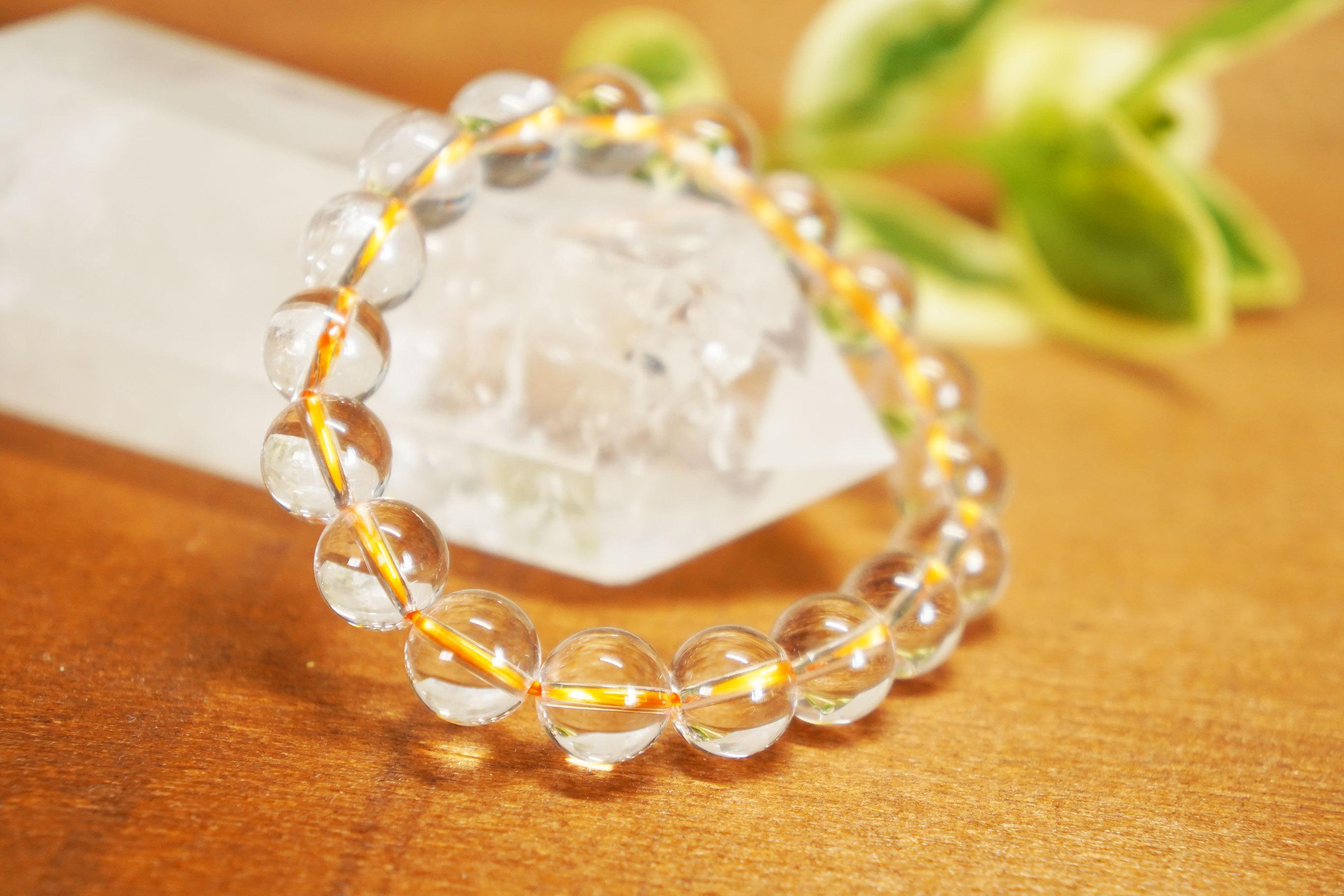 【5Aランク天然水晶使用!】高級オレンジクウォーツブレスレット