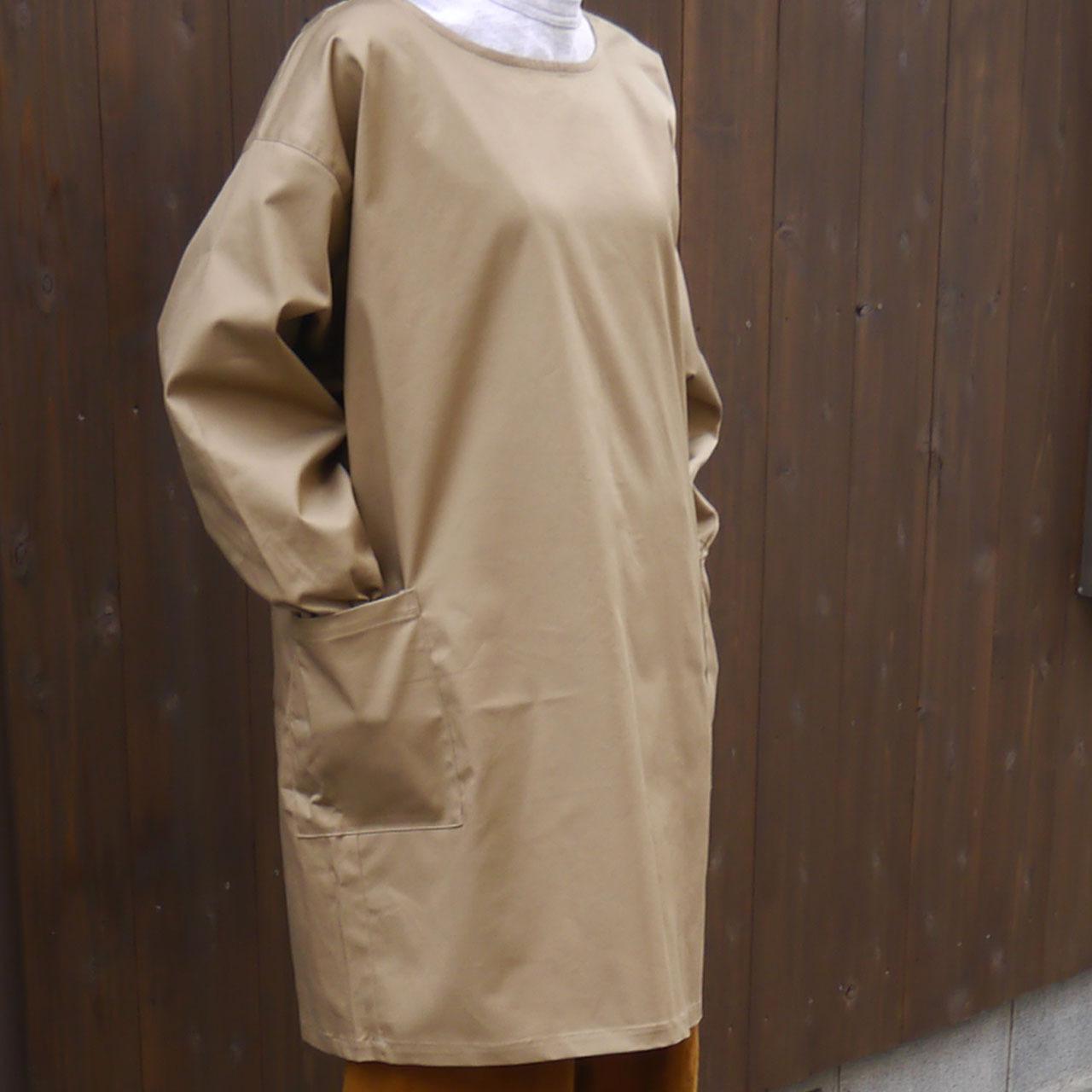 撥水・防汚加工袖付きエプロン(ロング丈)