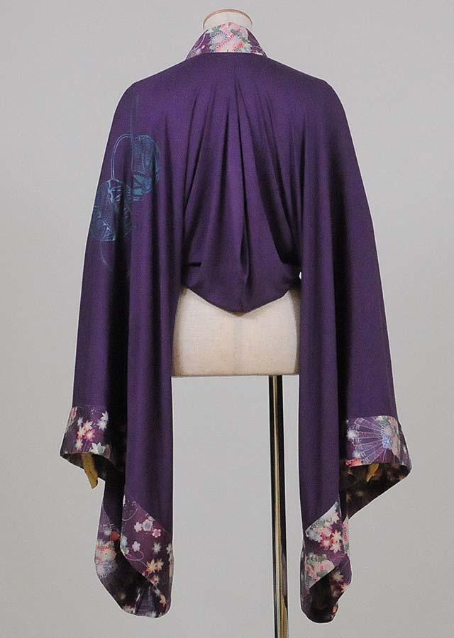 gouk 振袖の筒型羽織 紫 GGD26-Z329 PUR/M