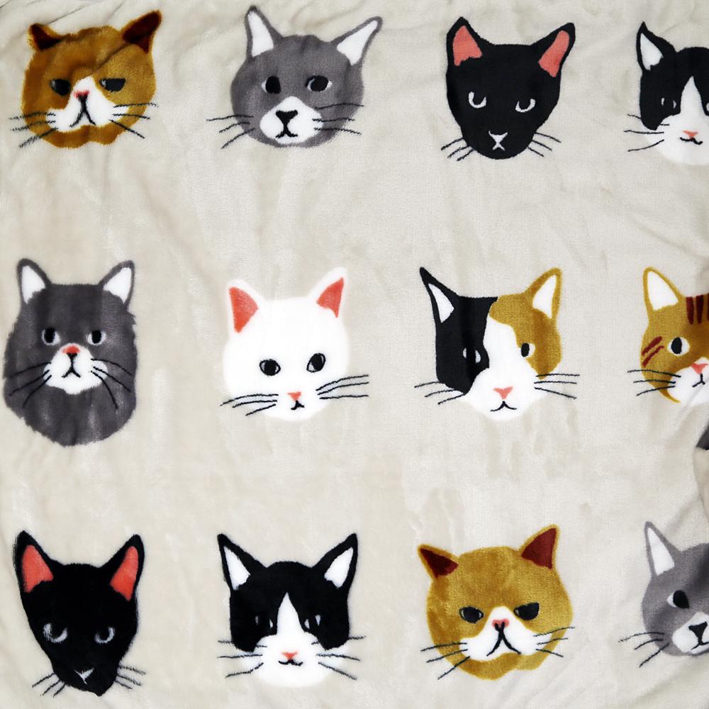 猫ブランケット(キャットフェイスひざ掛け)