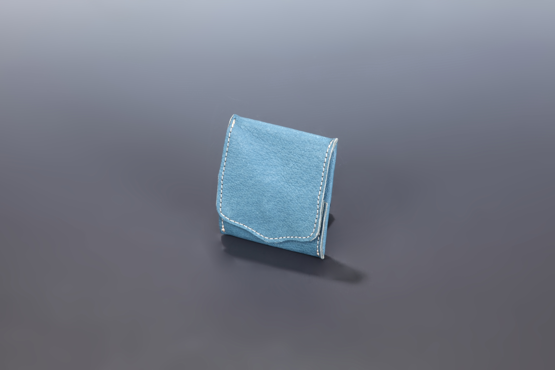 【国産イノシシ革】Designers Jewelry buff コラボコインケース(Blue)【NOTO Leather使用】