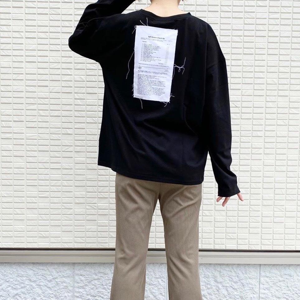 【 Days 】- 110-1332 - バックモチーフロングスリーブT