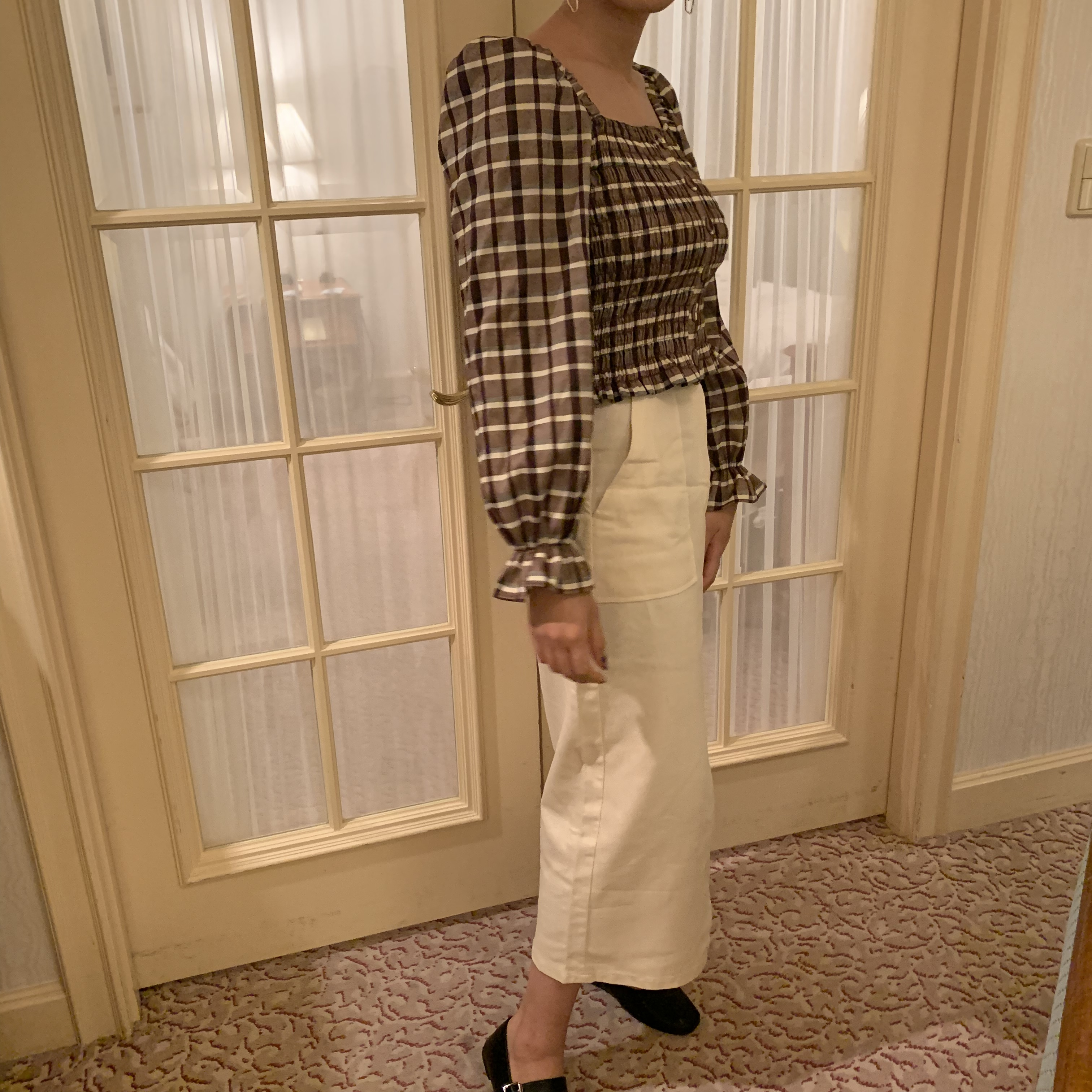 front slit skirt