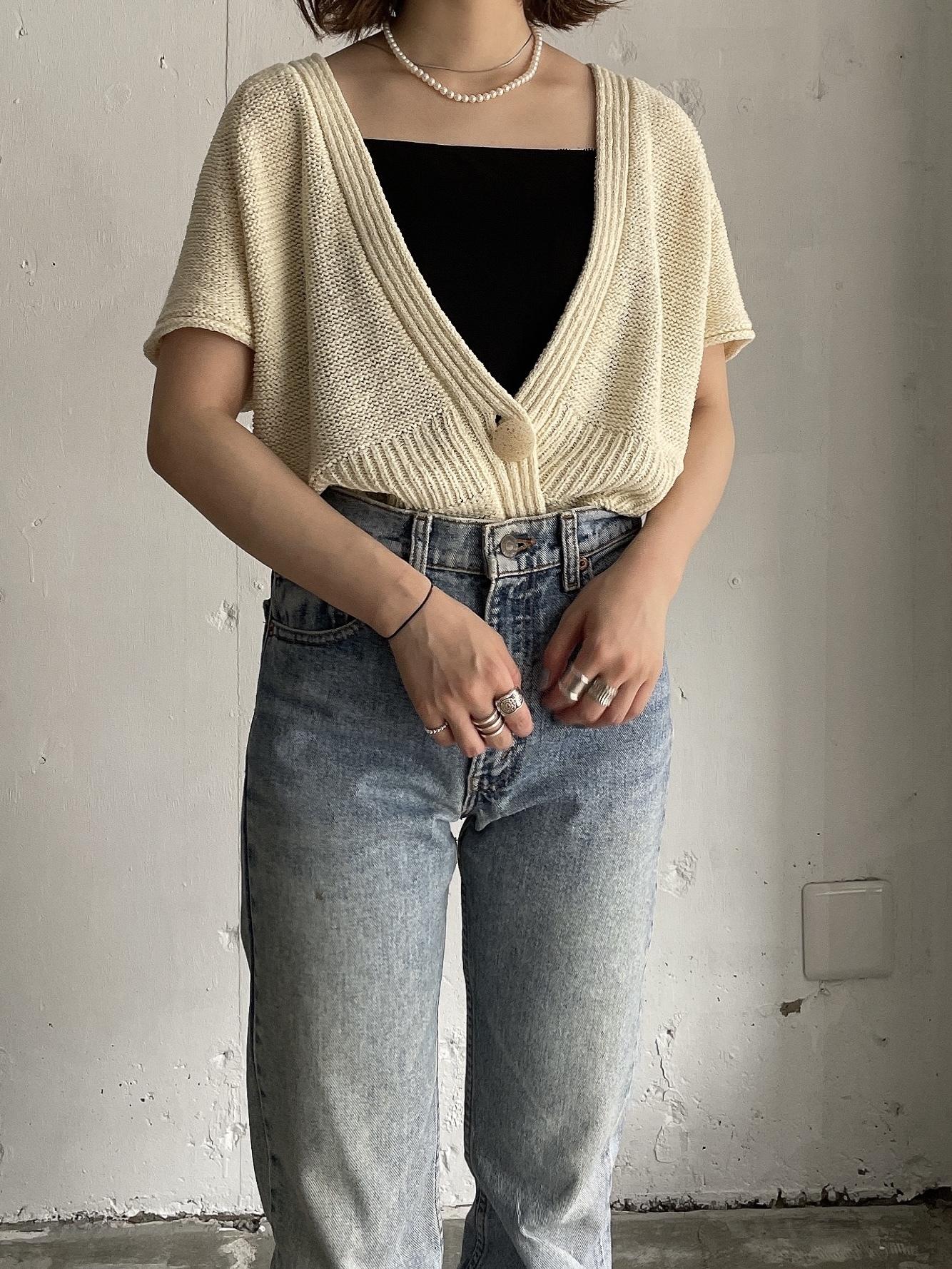vintage summer knit cardigan