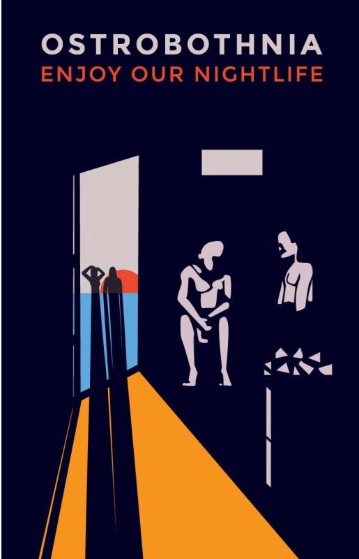ポスター50x70「ナイトライフ」by ティンティン・ロスヴィク