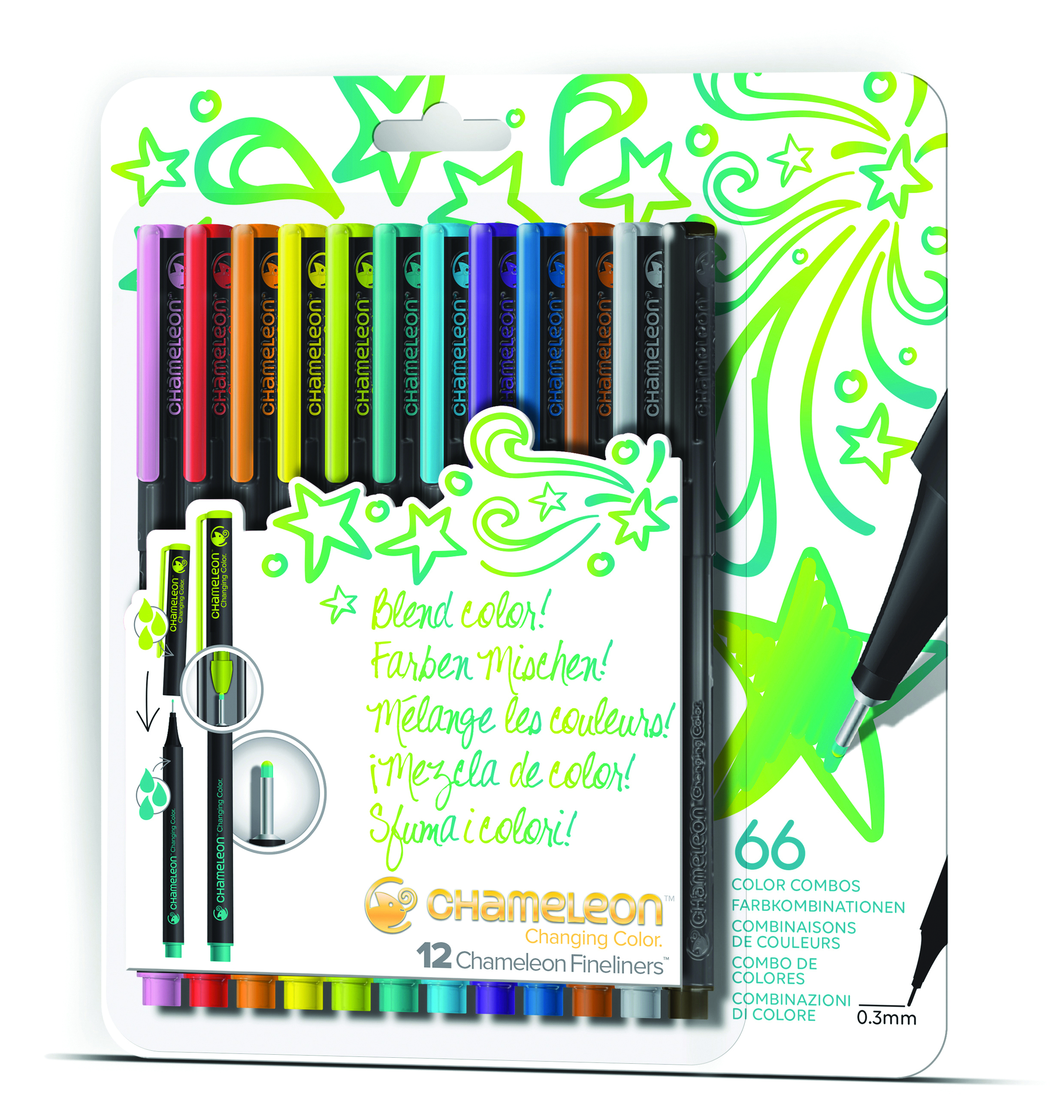 Chameleon Blendwriters 12 pack Bright Colors (カメレオンブレンドライター 12本入りブライトセット)