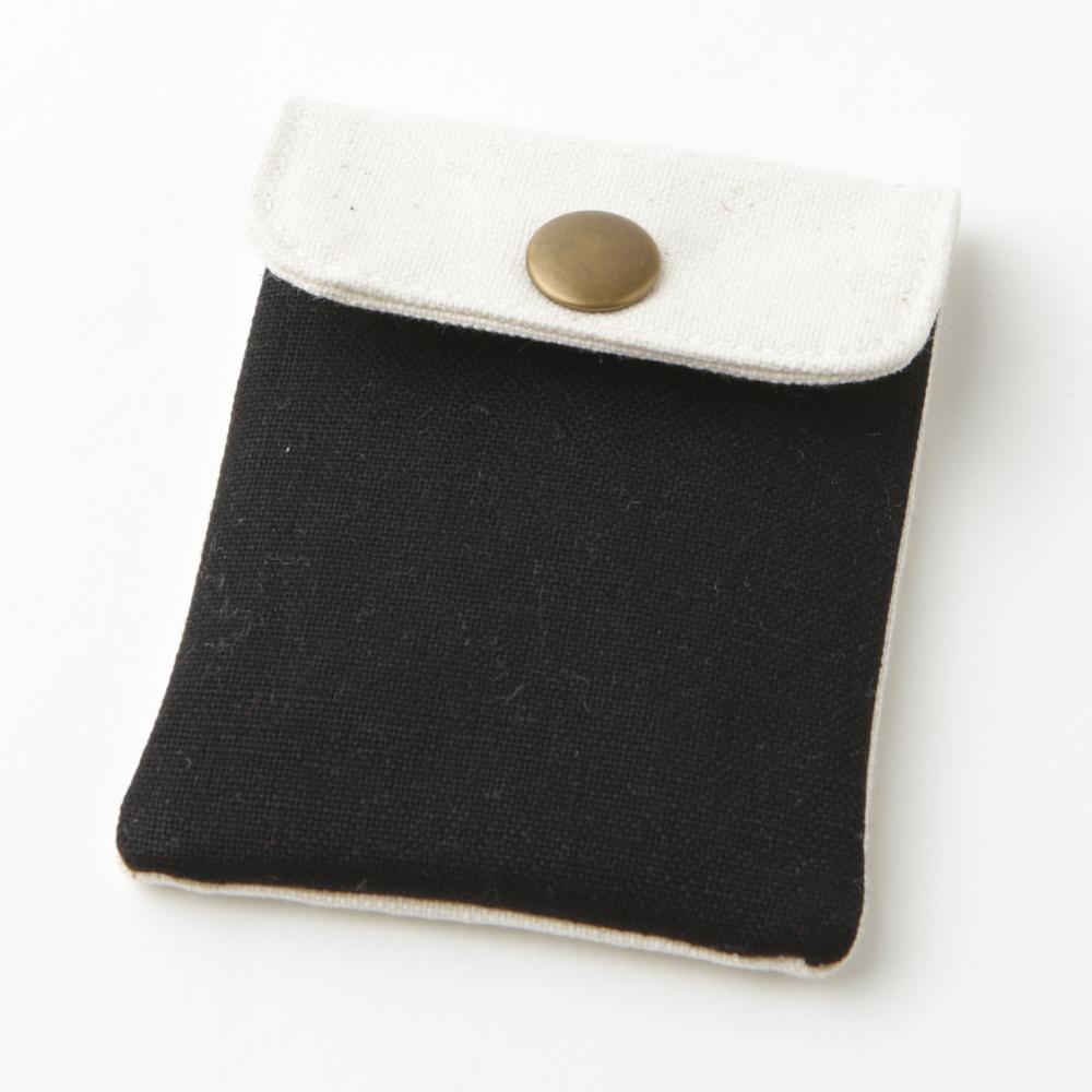 携帯灰皿 おしゃれ かわいい 帆布 ハンプ ブラック 48206 熟練職人のハンドメイド インナーリフィル合計2個付属 日本製