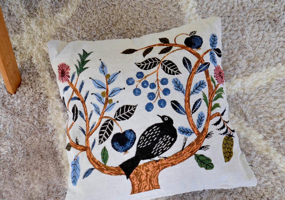 松尾ミユキ Cushion Cover Birdtree