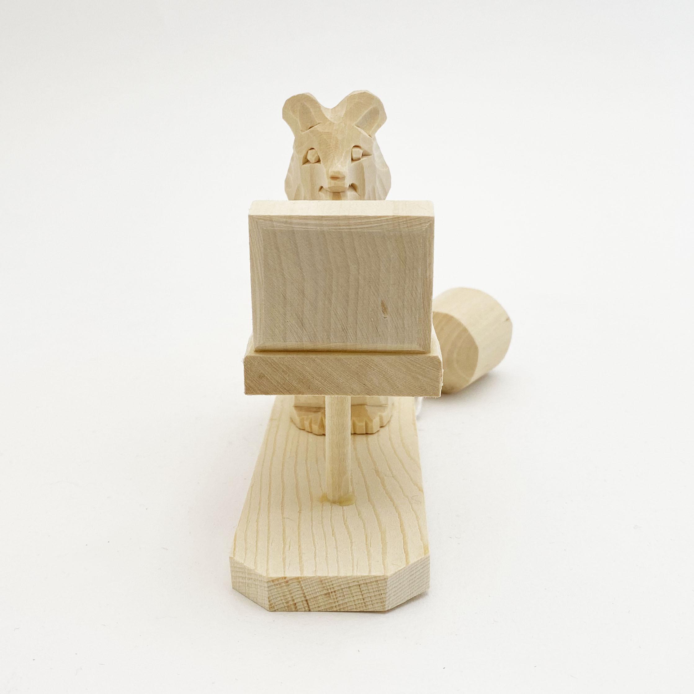 ボゴロツコエ木地玩具「クマのパソコンワーク」
