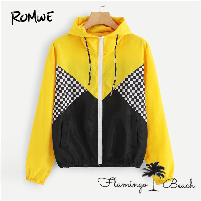 【FlamingoBeach】yellow block jumper