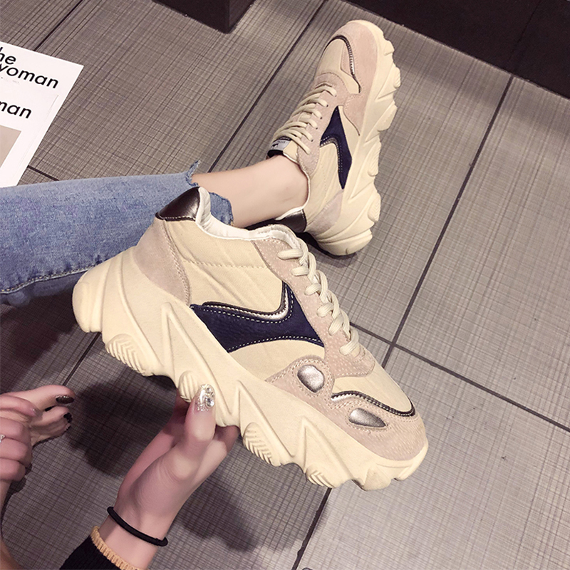 【shoes】ファッション切り替えハイヒールスニーカー21881048