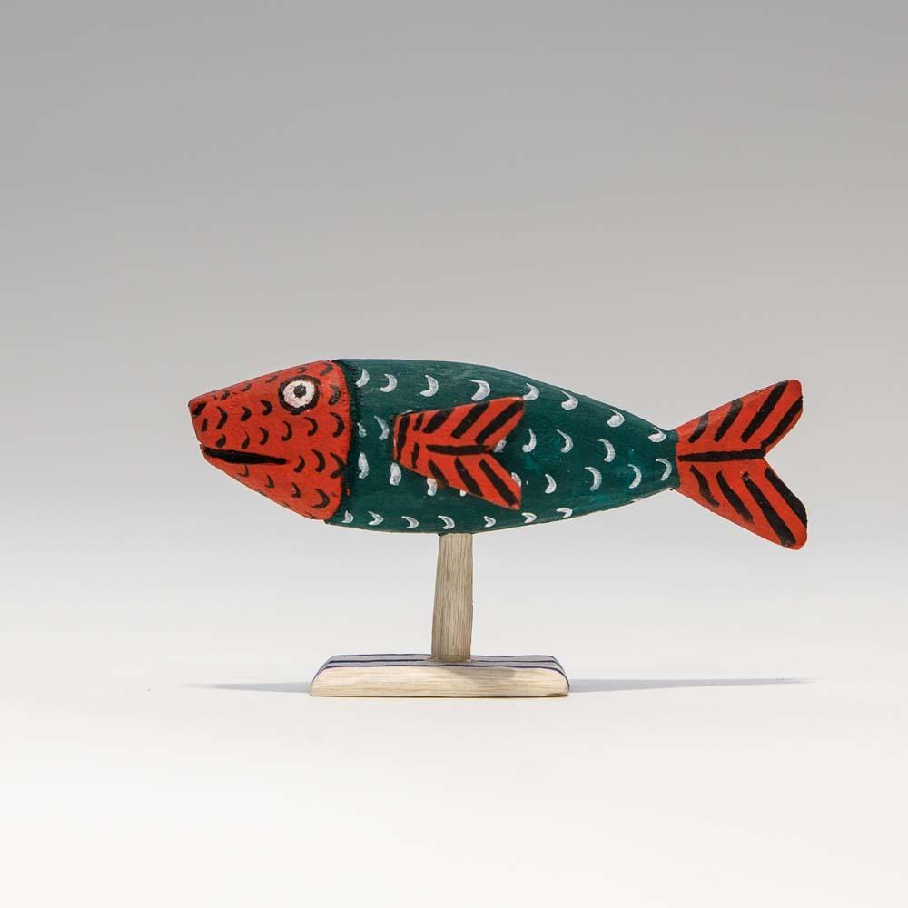 Alebrijes Fish - Green x Red