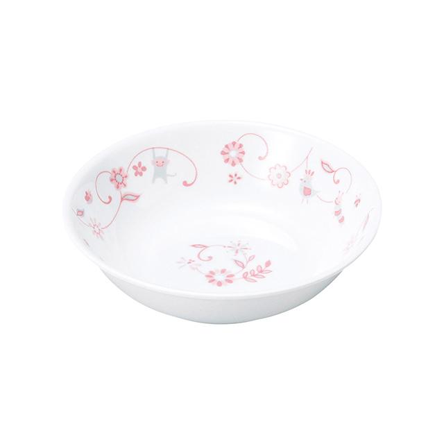 【1159-1310】強化磁器 深小皿 サラサ・ピンク