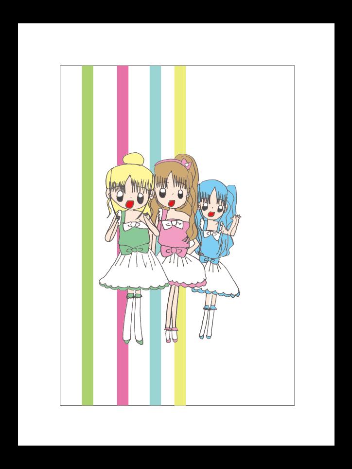プリント額絵:Yuka作「キミはアイドル!」