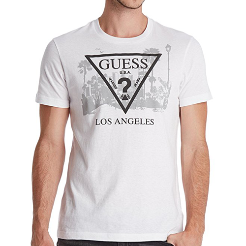Guess Factory Los Angeles Crew Tee White
