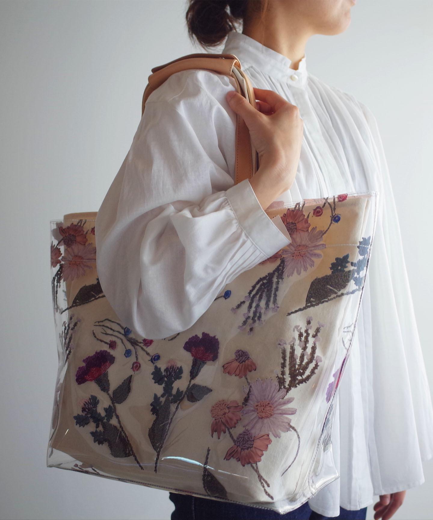 色糸花のトートバッグ (evi043)