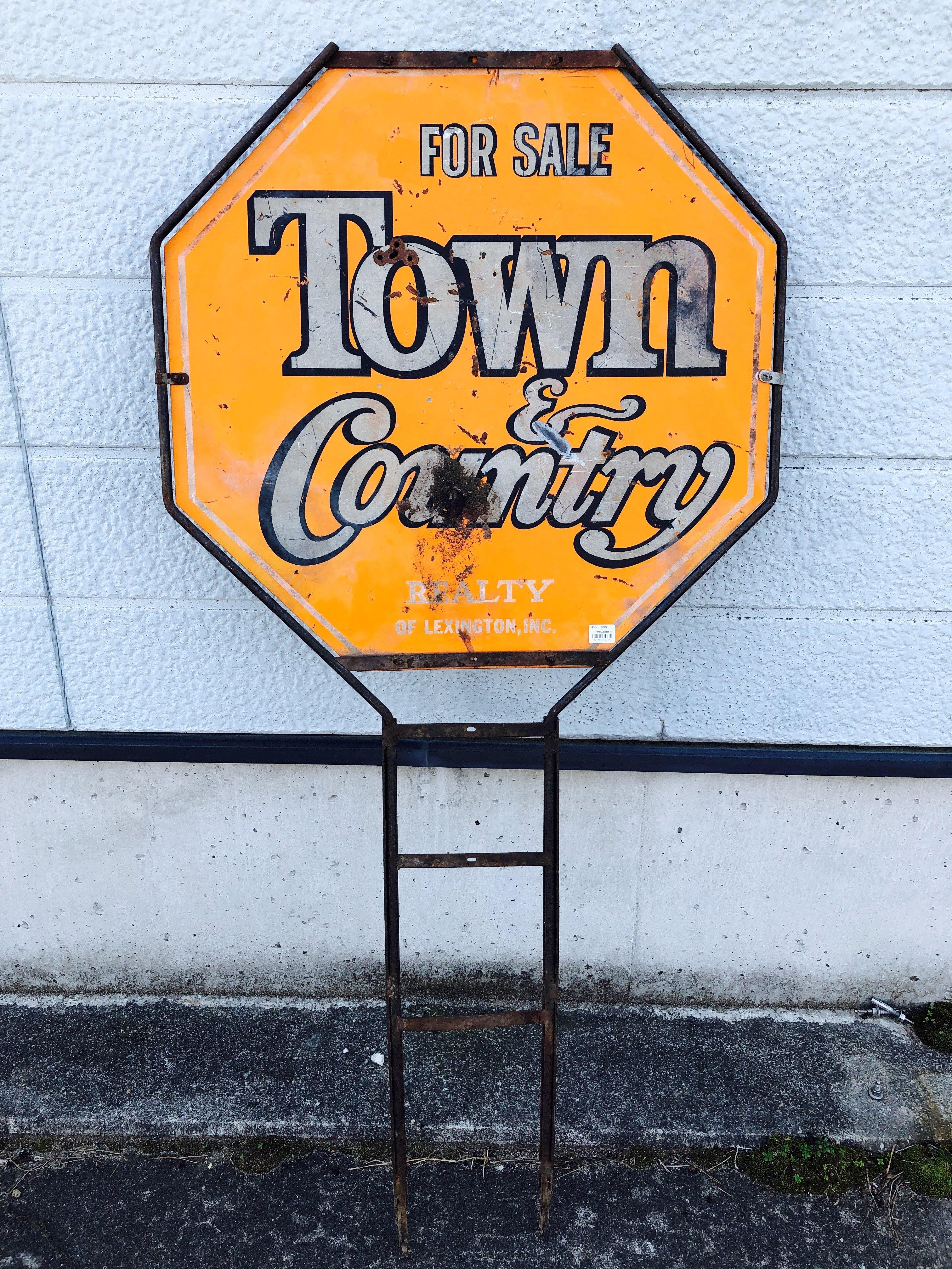 品番2154 サインボード 『Town & Country REALTY』 不動産 看板 アメリカン雑貨
