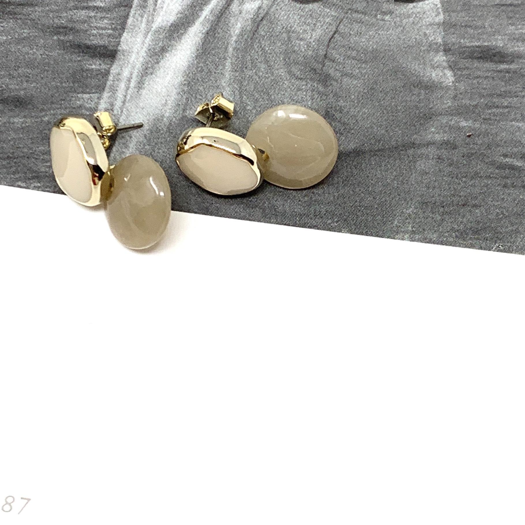 Resin ball  Pierce |ミニボールマーブルピアス| #SP0129|【STELLAPARK】