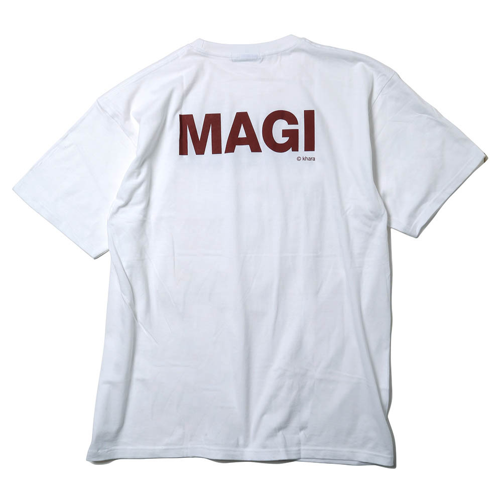 MAGI SYSTEM BIG T-Shirt (MELCHIOR(ホワイト)) / RADIO EVA
