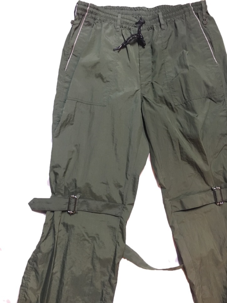 SKIN / nylon bondage pants(olive) - 画像2