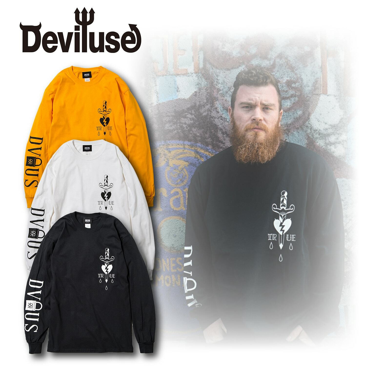 Deviluse(デビルユース) | TRUE L/S T-shirts