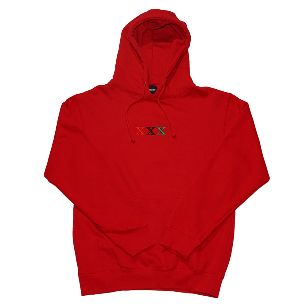 Stay Black SALUTE XXX HOODIE (RED)